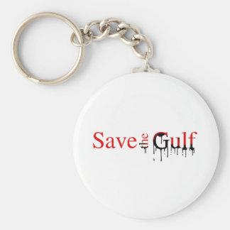 Save the Gulf Bumper Sticker Basic Round Button Key Ring