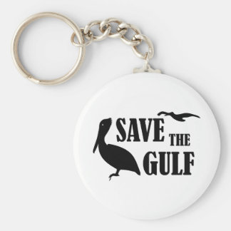 Save the Gulf Pelican Keychain