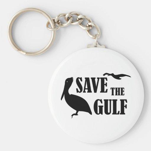 Save the Gulf Pelican Keychain
