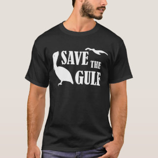 Save the Gulf Pelicans Wildlife Mens Black T-shirt