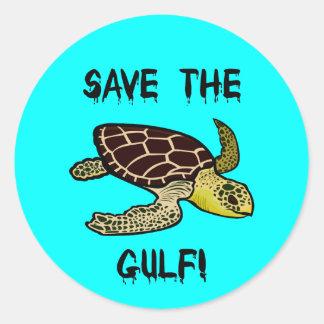 Save the Gulf Round Stickers