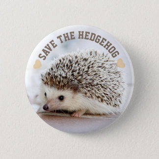 Save The Hedgehog 6 Cm Round Badge