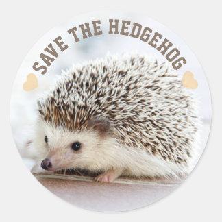 Save The Hedgehog Classic Round Sticker