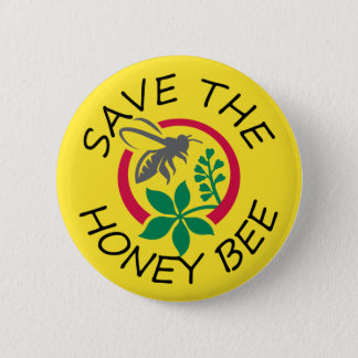 Save the Honey Bee Button