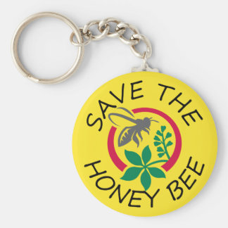 """Save the Honey Bee"" Keychain"