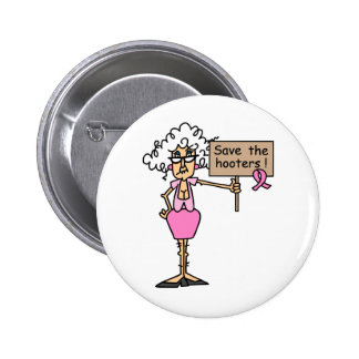 Save the Hooters! 6 Cm Round Badge