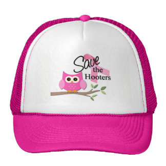 Save The Hooters Breast Cancer Awareness Hat