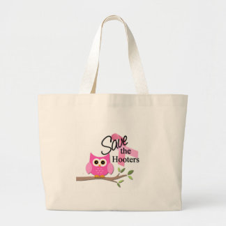 Save The Hooters Breast Cancer Awareness Tote Bag