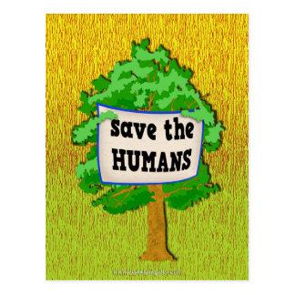 Save the Humans... Postcard