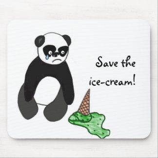 Save the ice-cream Panda Mouse Pad