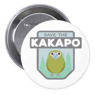 Save The Kakapo Parrot Button