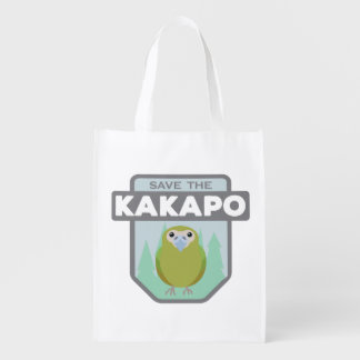 Save the Kakapo reusable shopping bag