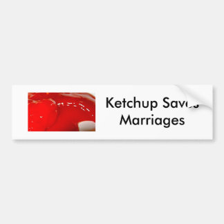 Save the Ketchup! Bumper Sticker