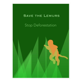 Save the Lemurs Postcard