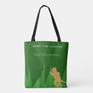 Save the Lemurs Tote Bag