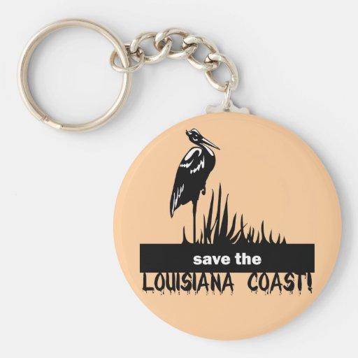Save the Louisiana coast Key Chains
