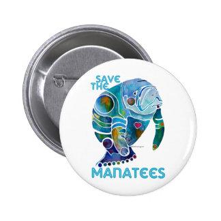 Save The Manatee 6 Cm Round Badge