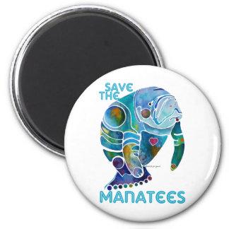Save The Manatee 6 Cm Round Magnet