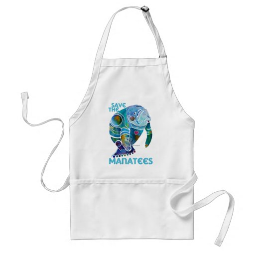 Save The Manatee Aprons
