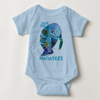 Save The Manatee Baby Bodysuit