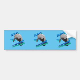 Save the manatee bumper sticker