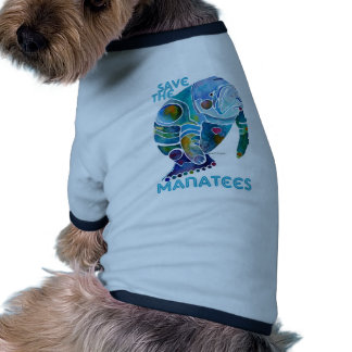 Save The Manatee Dog Tee Shirt