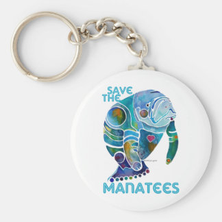 Save The Manatee Key Chains