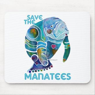 Save The Manatee Mouse Pads