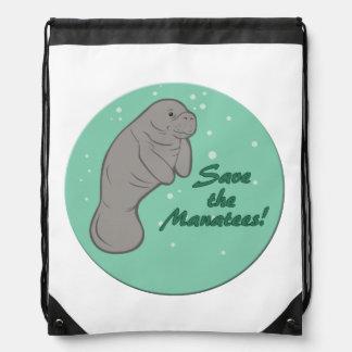 Save the Manatees! Cinch Bag