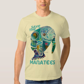 Save the Manatees Blue Shirts