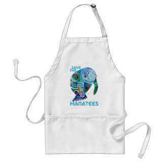 Save the Manatees Blue Standard Apron