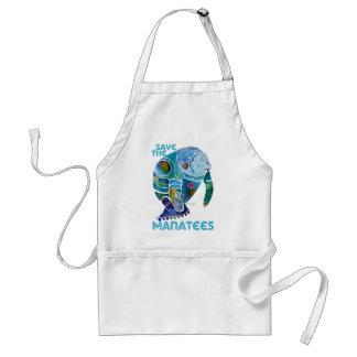 Save the Manatees Blue Standard Apron