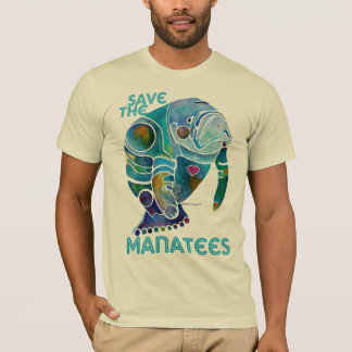 Save the Manatees Blue T-Shirt
