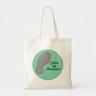 Save the Manatees! Budget Tote Bag