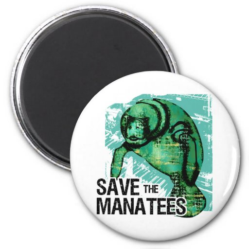 Save the Manatees Fridge Magnets