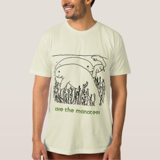 save the manatees mens shirts