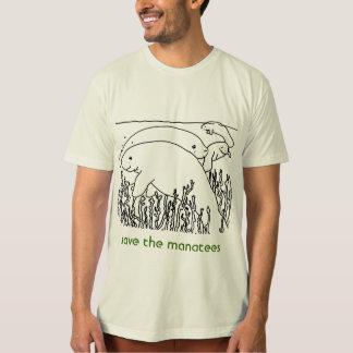 save the manatees mens T-Shirt