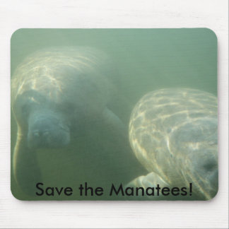 Save the Manatees! Mouse Mat