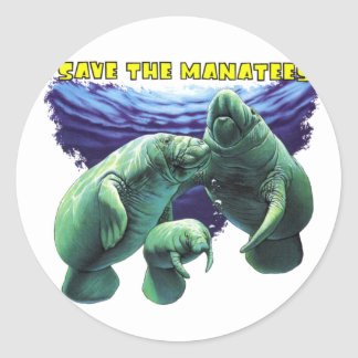 Save the Manatees Sticker
