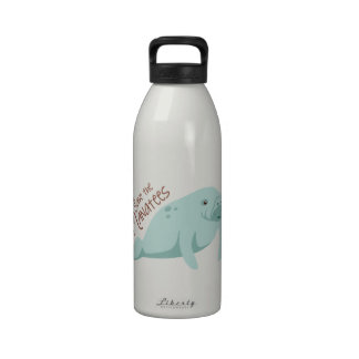 save the manatees reusable water bottles