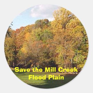 Save the Mill Creek Flood Plain Fall Round Sticker
