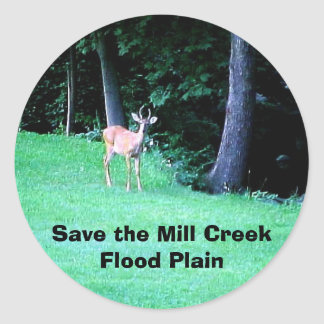 Save the Mill Creek Flood Plain Summer Round Sticker