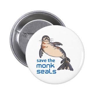 Save The Monk Seals 6 Cm Round Badge