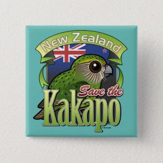 Save the New Zealand Kakapo 15 Cm Square Badge