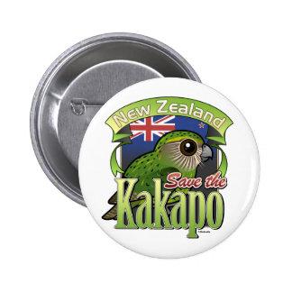Save the New Zealand Kakapo 6 Cm Round Badge