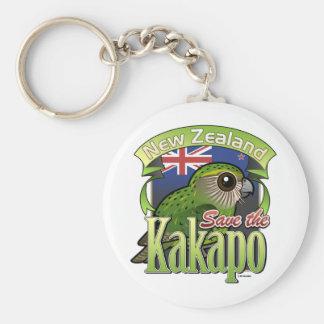 Save the New Zealand Kakapo Basic Round Button Key Ring