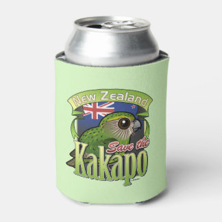 Save the New Zealand Kakapo Can Cooler