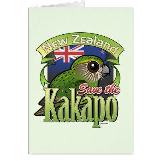 Save the New Zealand Kakapo Note Card
