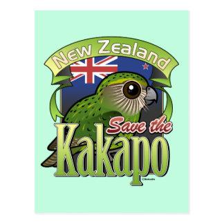Save the New Zealand Kakapo Postcard