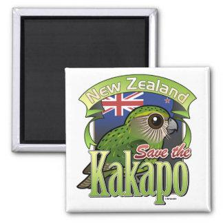 Save the New Zealand Kakapo Square Magnet